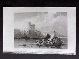 Roscoe 1834 Antique Print. Villeneuve, France